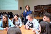 Handel ludźmi – warsztaty z funkcjonariuszką Wydziału Prewencji KMP w Łomży